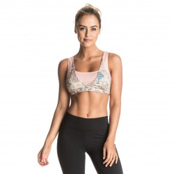 Roxy Ashtani Printed Bra heritage heather playground
