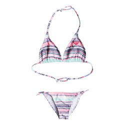 Roxy Little Indy Tri Set beach glass sombrero stripe
