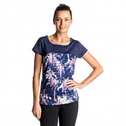 Roxy Thana Tee blue depths washed palm