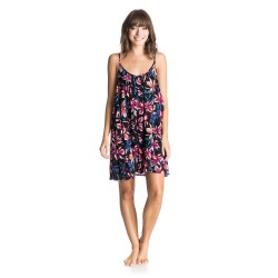 Roxy Windy Fly Away Print Dress true black maui lights