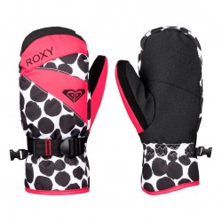 Roxy Roxy Jetty Girl Mitt irregular dots true black