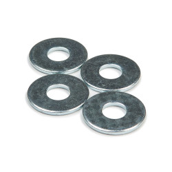 "Khiro Flat Washers 1"" chrome"