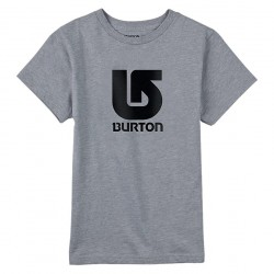 Burton Boys Logo Vertical Ss grey heather