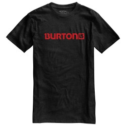 Burton Logo Horizontal Recycled Ss true black heather