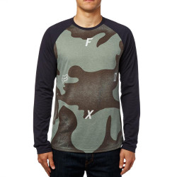 Fox Conjoin Ls Tech Raglan heather dark fatigue