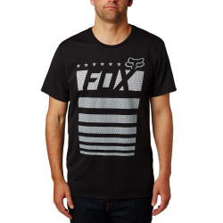Fox Red, White & True Tech Tee black