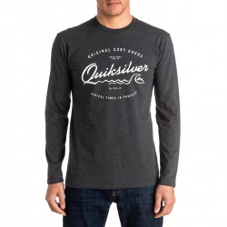 Quiksilver Classic LS West Pier charcoal heather