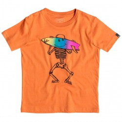 Quiksilver Classic Ss Boy Skellsmile apricot orange