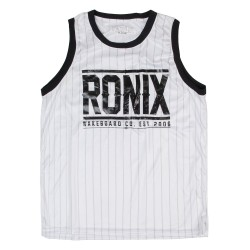 Ronix 812 Backseat Riding Jersey white/black pinstripe