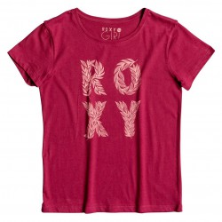 Roxy Rg Basic Crew Wild Child red plum