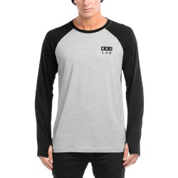 Mons Royale Coreshot Raglan Ls black/grey marl