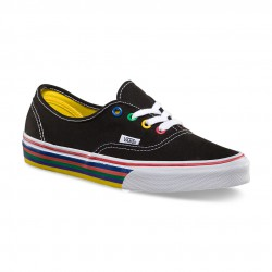 Vans Authentic rainbow sidewall black