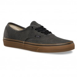 Vans Authentic washed canvas black/gum