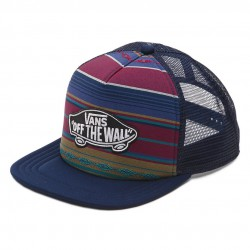 Vans Classic Patch Trucker Plus woven dobby stripe