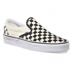 Vans Classic Slip-On black and white checker/white