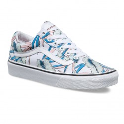 Vans Old Skool tropical leaves true white