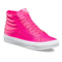 Vans Sk8-Hi Slim neon leather neon pink/white
