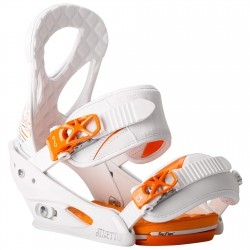 Burton Stiletto white/orange