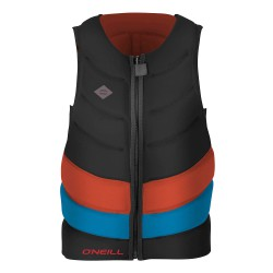 O'Neill Gooru-Tech Comp Vest black/neon red/brite blue