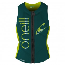 O'Neill Wms Slasher Comp Vest deep teal/lime