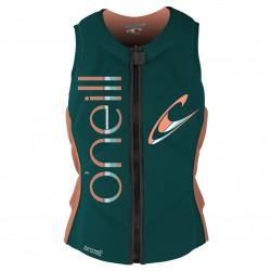O'Neill Wms Slasher Comp Vest deep teal/lt.grapefruit