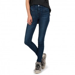 Volcom High & Waisted Skinny double down indigo