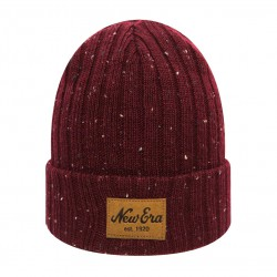 New Era Flecked Suede burgundy