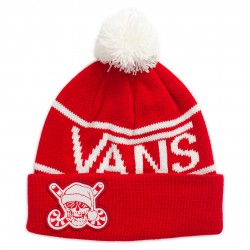 Vans Holiday Pom Beanie racing red