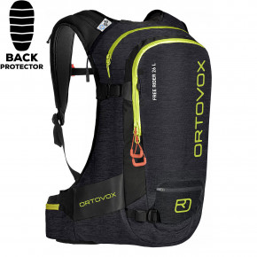 Go to the product Snowboard backpack Ortovox Free Rider 26 L black raven blend 2019/2020