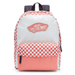 Go to the product Backpack Vans Realm spiced coral checkerboard 2018