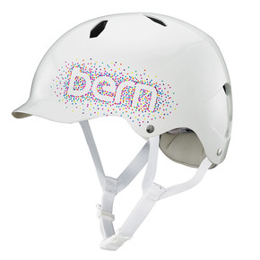 Go to the product Helmet Bern Bandita gloss white confetti logo 2018