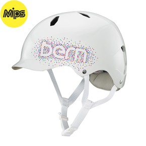 Go to the product Helmet Bern Bandita Mips gloss white confetti logo 2017