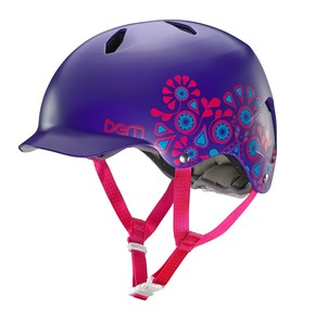 Go to the product Helmet Bern Bandita satin purple floral 2015