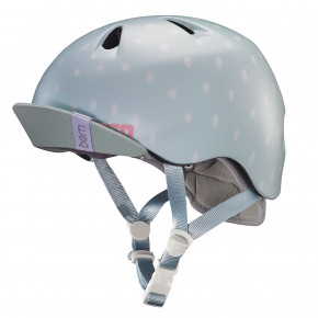 Go to the product Helmet Bern Nina satin seaglass polka dot 2018