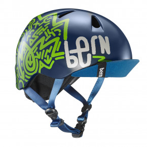 Go to the product Helmet Bern Nino matte navy blue zig-zag 2019