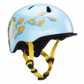 Go to the product Helmet Bern Tigre satin blue goldfish graphic 2020