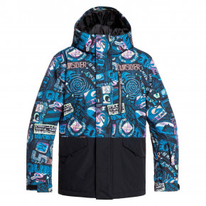 Go to the product Jacket Quiksilver Mission Block Youth black bark to the moon 2019/2020