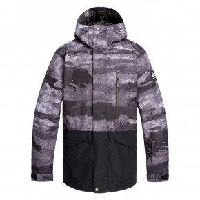 Go to the product Jacket Quiksilver Mission Printed Block black matte painting 2019/2020