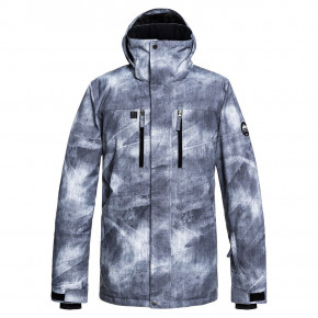 Go to the product Jacket Quiksilver Mission Printed grey/simple texture 2018/2019