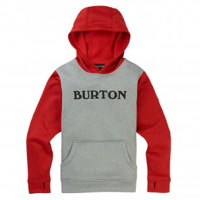 Go to the product Tech Hoodie Burton Boys Oak Pullover grey heather/flame scarlet 2019/2020