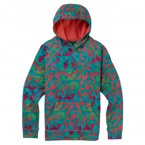 Go to the product Tech Hoodie Burton Girls Crown Bonded Pullover green-blue morse geo 2019/2020