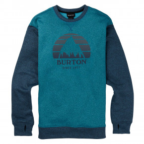 Go to the product Tech Hoodie Burton Oak Crew blue curacao heather/storm 2019/2020