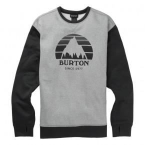 Go to the product Tech Hoodie Burton Oak Crew grey heather/true black heather 2019/2020