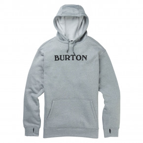 Go to the product Tech Hoodie Burton Oak Pullover horizontal logo grey heather 2019/2020