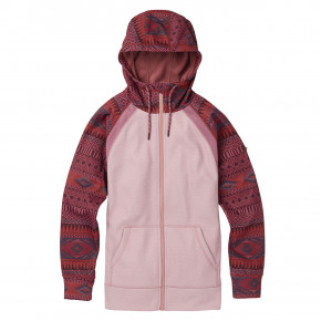 Go to the product Tech Hoodie Burton Wms Crown Bonded Fz port royal freya wve/fawn heathe 2018/2019