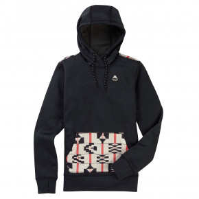 Go to the product Tech Hoodie Burton Wms Oak Pullover Hoodie true black heather/burnt sienna 2019