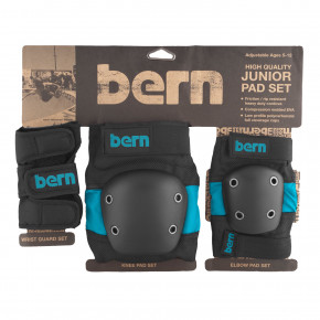Go to the product Bern Junior Pad Set blue on black 2018