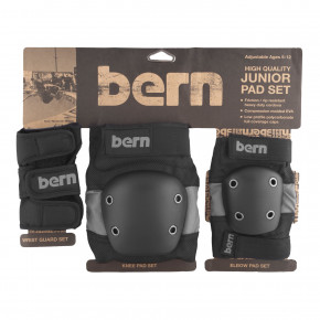 Go to the product Bern Junior Pad Set grey on black 2018