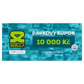 Go to the product Gift cards Snowboard Zezula 10000 Kč