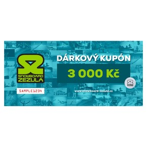 Go to the product Gift cards Snowboard Zezula 3000 Kč